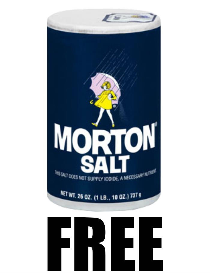 Free 26 Oz Container Of Morton Plain Or Iodized Table Salt