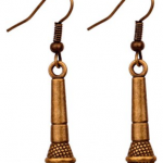 Amazon: Antique Gold Tone Microphone Dangle Earrings Only $3.84 Shipped (Reg. $15.83)