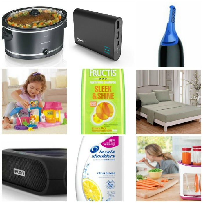 amazon round up of deals crock pot beard trimmer charger toys bedding shampoo and more. Black Bedroom Furniture Sets. Home Design Ideas