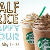 Starbucks: 50% off ANY size, ANY flavor Frappuccino Blended Beverages! (MAY 6TH – MAY 15TH 2016)