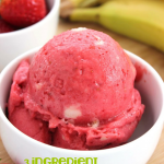 3-Ingredient Strawberry Banana Ice Cream (Non-Dairy!)