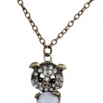 Amazon: Retro Bronze Chain Pig Clear Crystal Necklace Only $3.72 Shipped (Reg. $13.28)