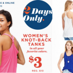 Old Navy: Women's Knot-Bakc Tanks Only $3 (Reg. $10) In-Store and Online (Two Days Only)