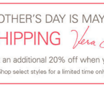 eBay: 70% off Vera Bradley + FREE Shipping (& 20% off $100) = Great Mother's Day Gifts