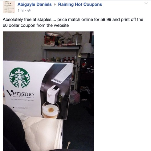 starbucks verismo  coupons