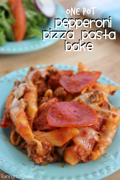 One Pot pepperoni pasta bake