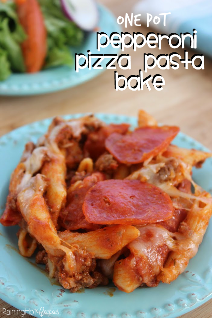 One Pot pepperoni pasta bake