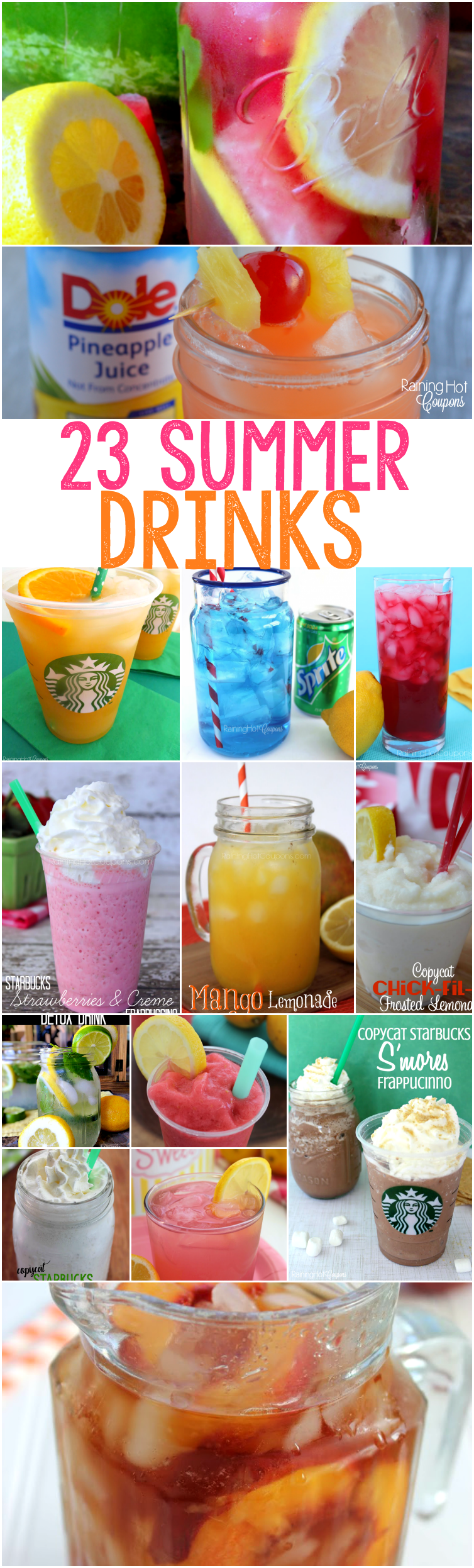 summer drinks food drink recipes refreshing party sonic diy easy cold restaurant fun garden alcoholic olive raininghotcoupons chili dinner yummy