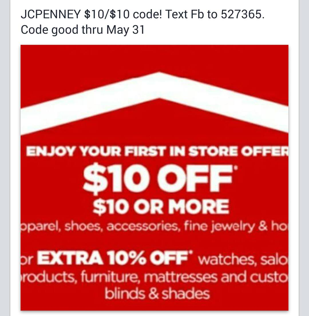 jcpenny 10 off 10