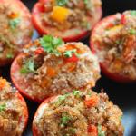 Ground Pork Stuffed Tomatoes