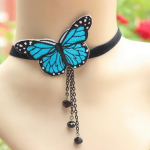 Amazon: Charming Velvet Lace Blue Butterfly Choker Necklace Only $4.29 Shipped (Reg. $17.16)