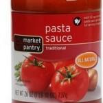 Market Pantry Pasta Sauce ONLY $0.63!