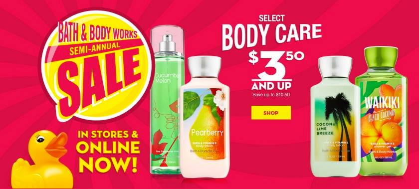 bath  u0026 body works semi annual sale  up to 75  off   u0026  10
