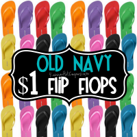 Old Navy: $1 Flip Flops Sale