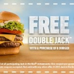 Jack in the Box: FREE Double Jack Burger w/Purchase of a Burger Coupon
