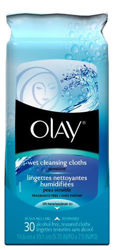 Olay-Wet-Cleansing-Cloth-for-Sensitive-skin