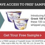 FREE Yoplait Greek 100 Whips Sample