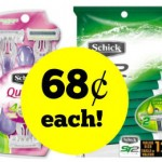 Walgreens: Schick Disposable Razors Only $0.68