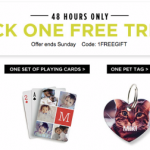 Shutterfly: FREE Thank You Cards, Playing Cards, Pet Tag OR 16×20 Photo Print (7/18 & 7/19 Only)