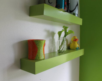 green floating shelves only 9 99 reg 59 00 great for nursery rh raininghotcoupons com lime green floating shelves lime green floating shelves