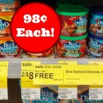 Blue Diamond Almonds Canister ONLY $1