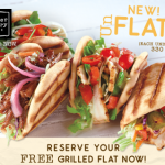 Corner Bakery: FREE Grilled Flat AND a Side of Carrots (NO Purchase Required)