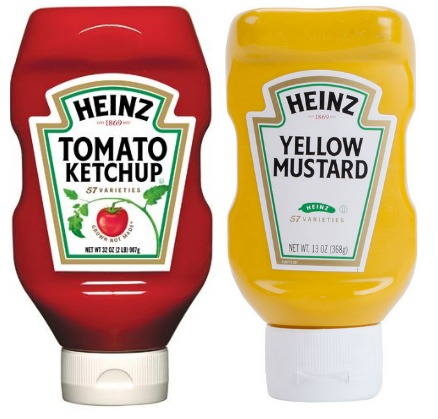 Target heinz ketchup mustard only for Heinz label template