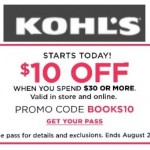 Kohl's Coupon: $10 off a $30 Purchase + Additional 20% off!