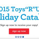 2015 Toys R Us Holiday Catalog