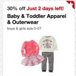 *HOT* Target: 30% off Baby & Toddler Apparel & Outerwear, Shoes and more!