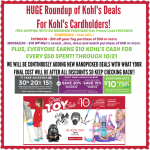 *HOT* HUGE Round Up of Kohl's Promo Codes = HOT DEALS!