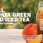 Carls' Jr: FREE Small Peach Papaya Green Sweetened Iced Tea (No purchase Needed!)