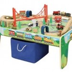 *HOT* Wooden 50-Piece Train Set with Small Table Only $49 Shipped (Reg. $79.97)!