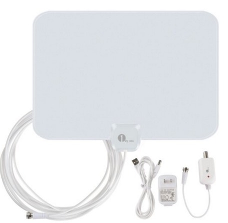 Amplified HDTV Antenna 50 Miles Range with USB Power Supply and 20 Feet Coaxial Cable $19.99 (Reg. $46.99)!