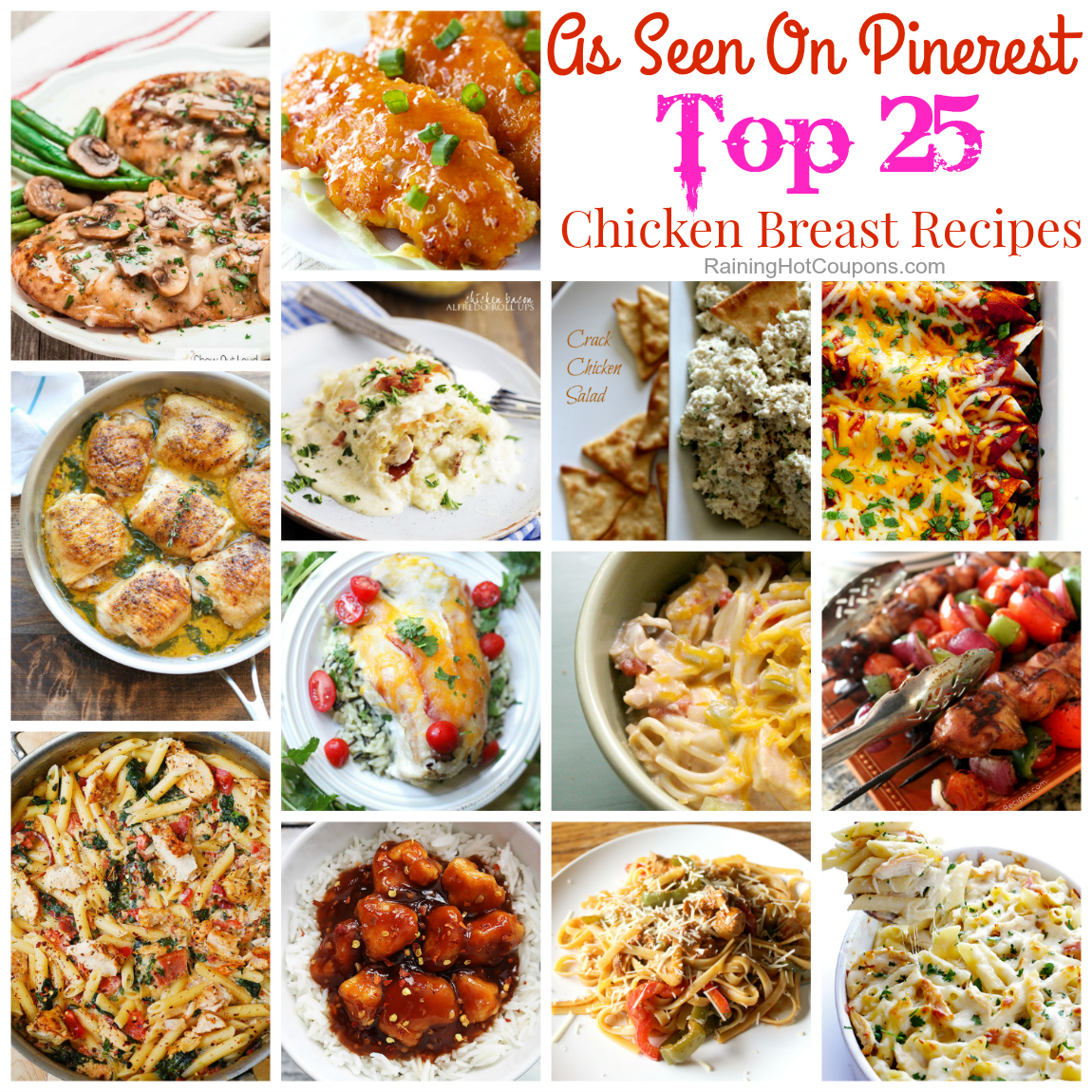 25 of the Best Easy Dinner Ideas with Chicken Breasts