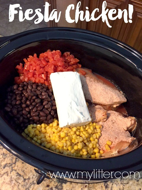 Fiesta Crock Pot Chicken
