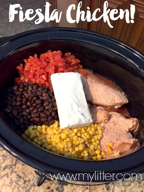 Fiesta Crock Pot Chicken