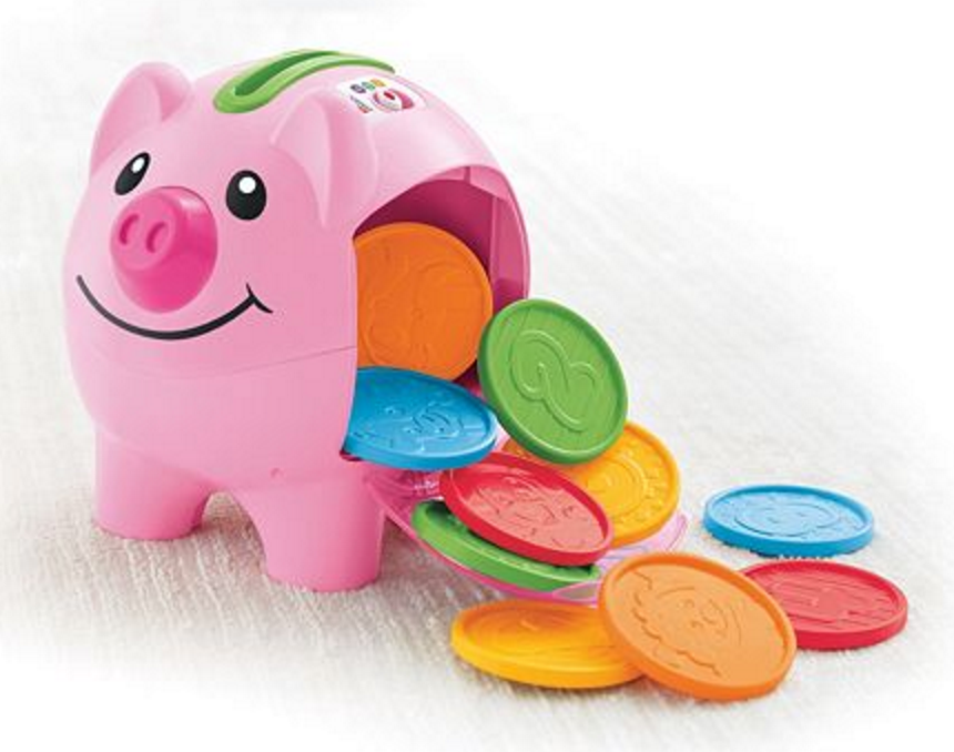 Fisher-Price Laugh & Learn Count & Learn Bilingual Piggy Bank $9.77 (Reg. $22.49)