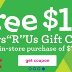 FREE $10 Gift Card with a $75 purchase a Toys R Us