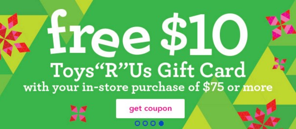 Toys R Us Gift Card : Free gift card with a purchase toys r us
