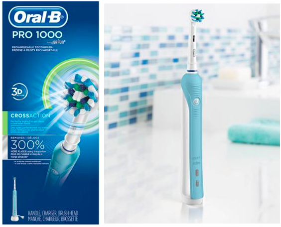 Walmart: Oral-B 1000 Rechargeable Toothbrush Only $14.97 (Reg. $64.97, After Rebates)
