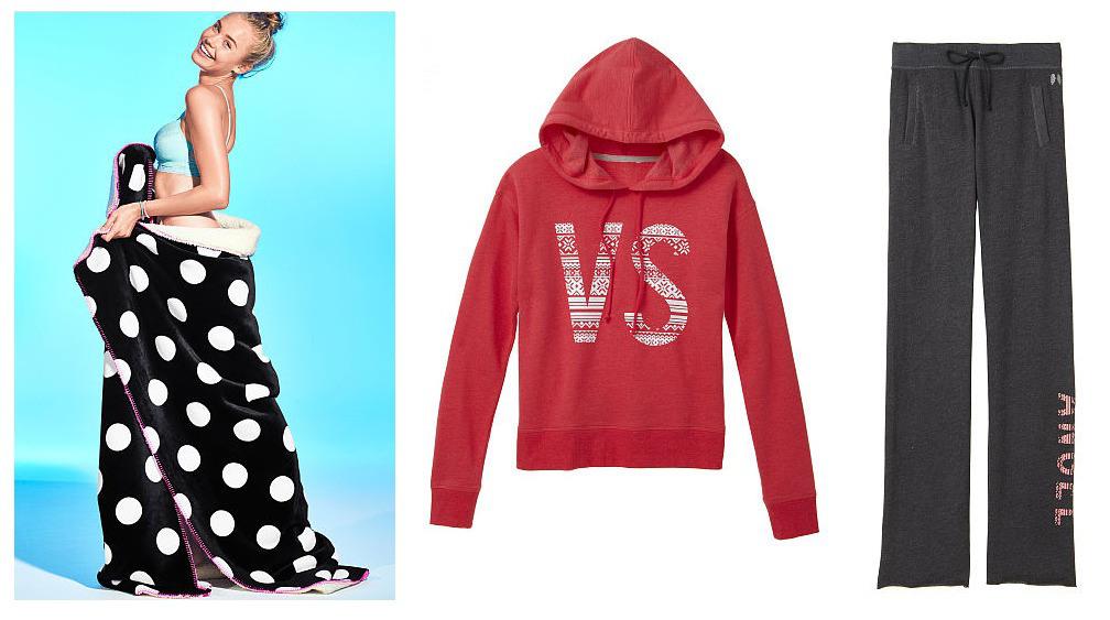 victorias-secret-blanket-and-hoodie