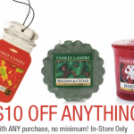 *HOT* Yankee Candle: $10 Off ANYTHING = FREE STUFF (No Minimum Purchase Required)