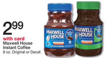 Walgreens Maxwell House Instant Coffee Only 197 Starting