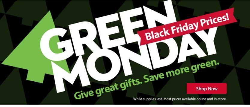 Green Monday Christmas Sales
