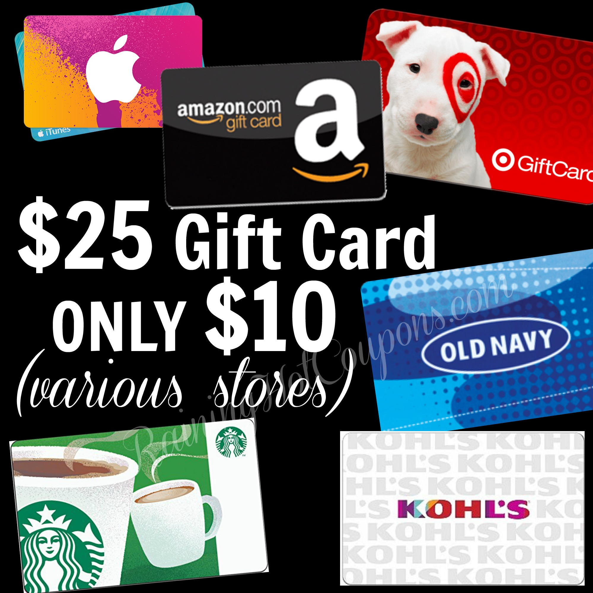 HOT* $10 for a $25 Target, Starbucks, Walmart, Amazon and