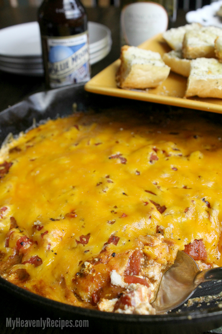 Chili Dip with Garlic Bread Vertical small
