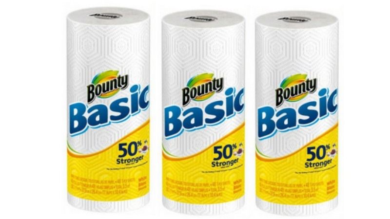 Bounty Basic Paper Towels ONLY $0.25!