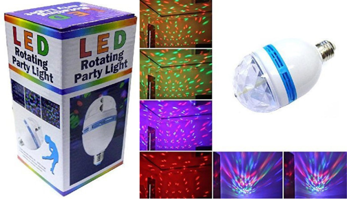 LED Rotating Party Light Only USD 7.50 (Reg. USD 39.99)
