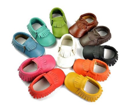 Handmade Genuine Leather Baby Moccasins Only $11.99 (Reg. $34.99)